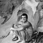 1981. Michael Law, Mike Law, Claw and Mikl Law. One and the same. Lunch beneath the Ogive at Bundaleer, Grampians National Park, Victoria. Arguably the best Australian climber of his generat ...