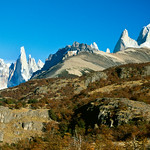 Cerro Torre and Fitz Roy. Los Glaciares National Park, Argentina, South America.