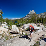 Karen and Cathedral Peak, on our way to Tuolomne Meadows.